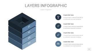 深天蓝色3D分层PPT信息图17