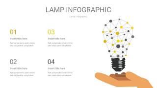 灰黄色创意灯PPT信息图6