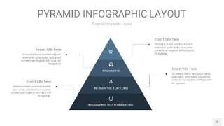 深蓝色3D金字塔PPT信息图表18