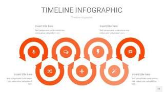 橘红色时间轴PPT信息图21