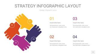 彩色战略计划统筹PPT信息图11