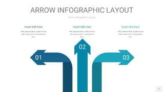 天蓝绿箭头PPT信息图表2