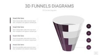 深紫色3D漏斗PPT信息图表7