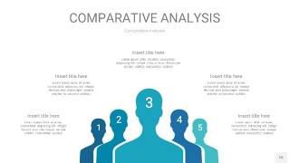 宝石蓝色用户人群分析PPT图表10