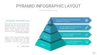 天蓝绿3D金字塔PPT信息图表22