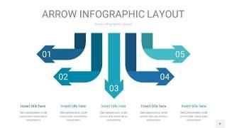 天蓝绿箭头PPT信息图表4