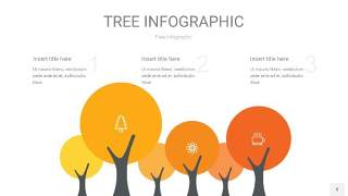 黄色树状图PPT图表8