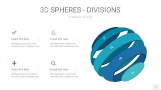 青色3D球体切割PPT信息图7