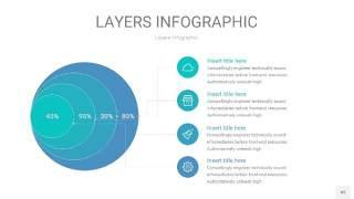宝石绿3D分层PPT信息图45