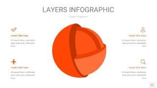 橘红色3D分层PPT信息图43