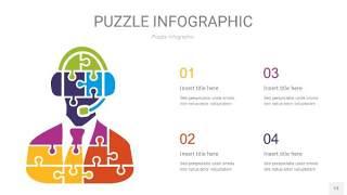 多彩拼图PPT图表13