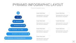 浅蓝色3D金字塔PPT信息图表10