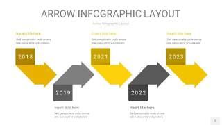 灰黄色箭头PPT信息图表7