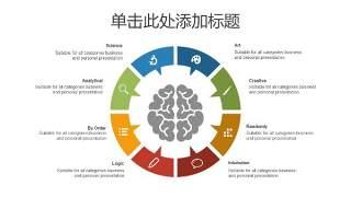 树状图PPT分类图表12