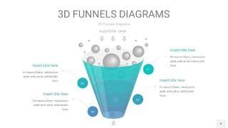 天蓝绿3D漏斗PPT信息图表8