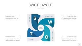 铁蓝色SWOT图表PPT17