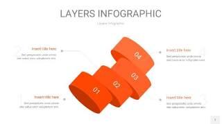 橘红色3D分层PPT信息图7