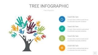 多彩树状图PPT图表2