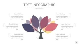 莫兰迪紫色树状图PPT图表4