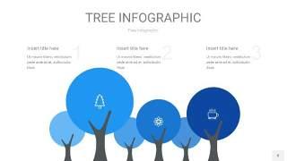 蓝色树状图PPT图表片8