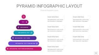 渐变紫色3D金字塔PPT信息图表10
