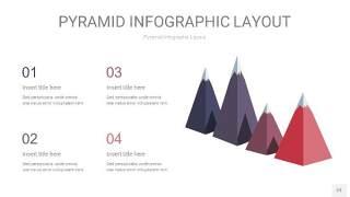 中紫色3D金字塔PPT信息图表23