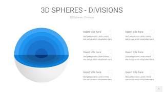 渐变蓝色3D球体切割PPT信息图1