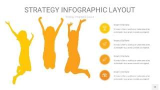 黄色战略计划统筹PPT信息图34
