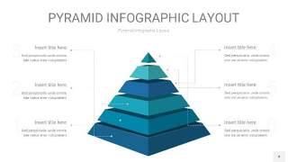 宝石蓝3D金字塔PPT信息图表4