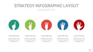 四色战略计划统筹PPT信息图13