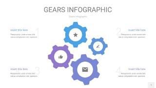 紫蓝色齿轮PPT信息图1