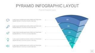 天蓝绿3D金字塔PPT信息图表8