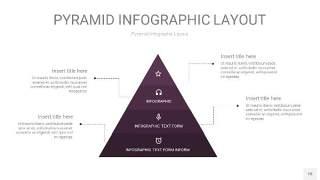 深紫色3D金字塔PPT信息图表18