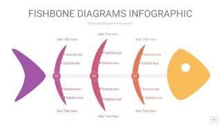 黄紫色鱼骨PPT信息图表5
