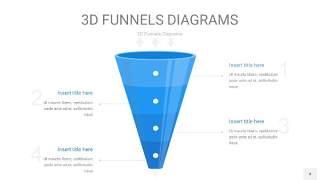 浅天蓝色3D漏斗PPT信息图表4