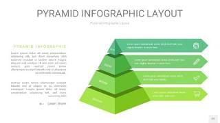 浅绿色3D金字塔PPT信息图表22