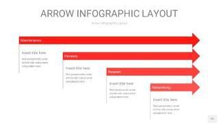 红色箭头PPT信息图表12
