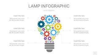 多色创意灯PPT信息图1