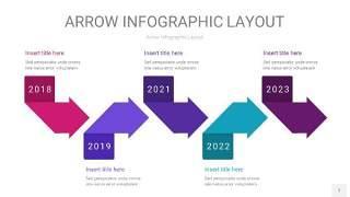 紫色系箭头PPT信息图表7
