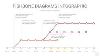 黄紫色鱼骨PPT信息图表6