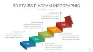 3D阶梯PPT图表5