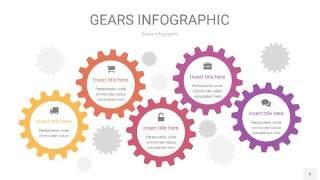 粉黄色齿轮PPT信息图6