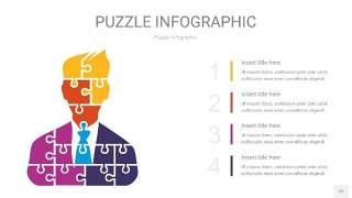 多彩拼图PPT图表12