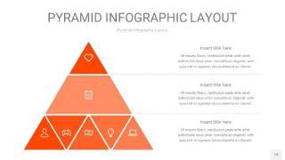 橘红色3D金字塔PPT信息图表15