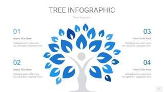蓝色树状图PPT图表片1