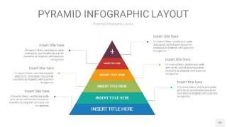 黄蓝绿色3D金字塔PPT信息图表20