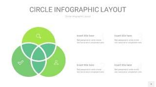 绿色圆形PPT信息图4