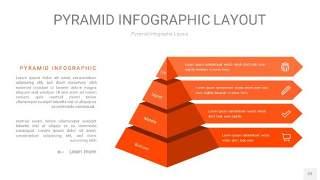 橘红色3D金字塔PPT信息图表22