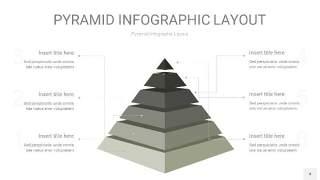 灰色3D金字塔PPT信息图表4