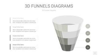 灰色3D漏斗PPT信息图表7